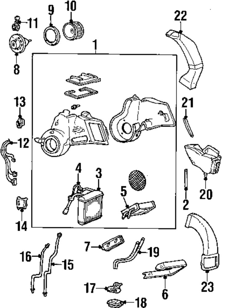 2006 Mercury Monterey Air Conditioner And Heater Parts