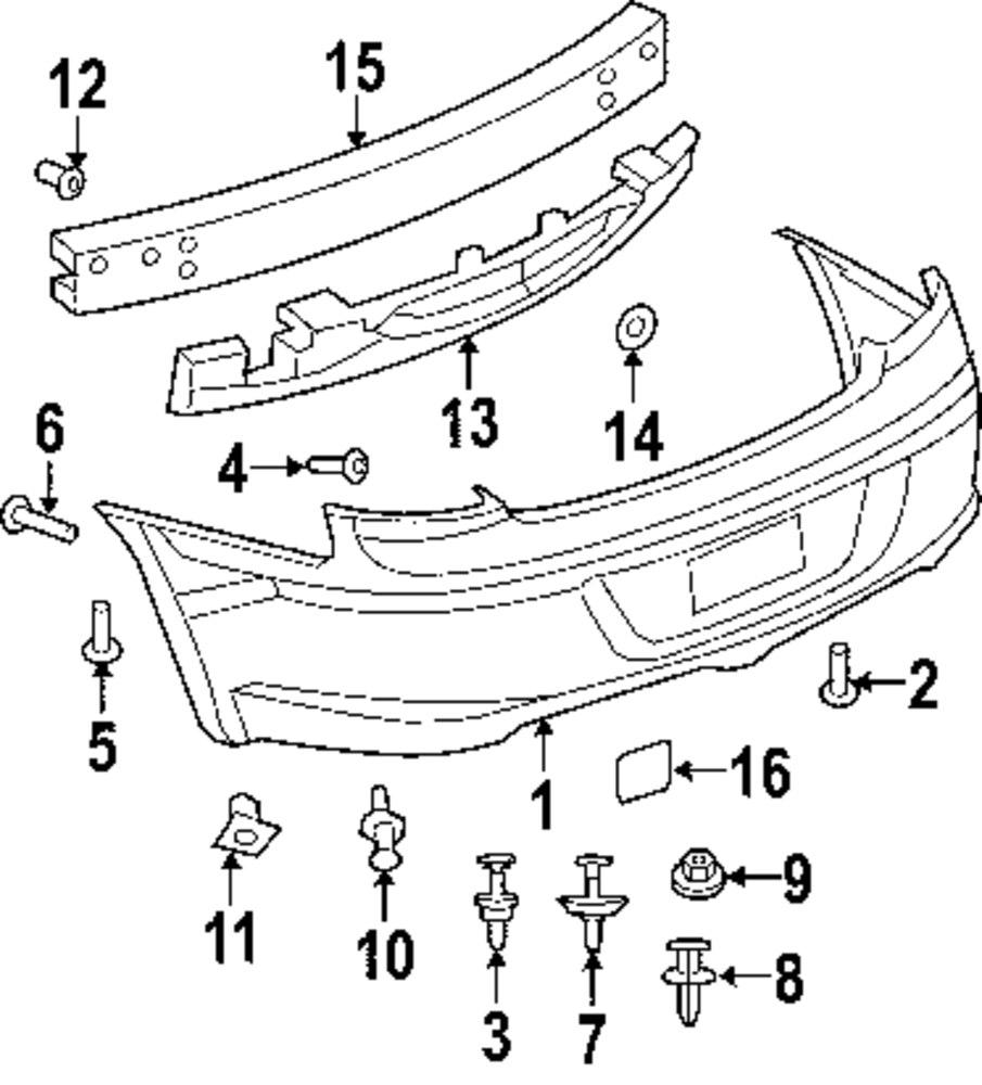 2008 CHRYSLER SEBRING Rear Bumper Parts
