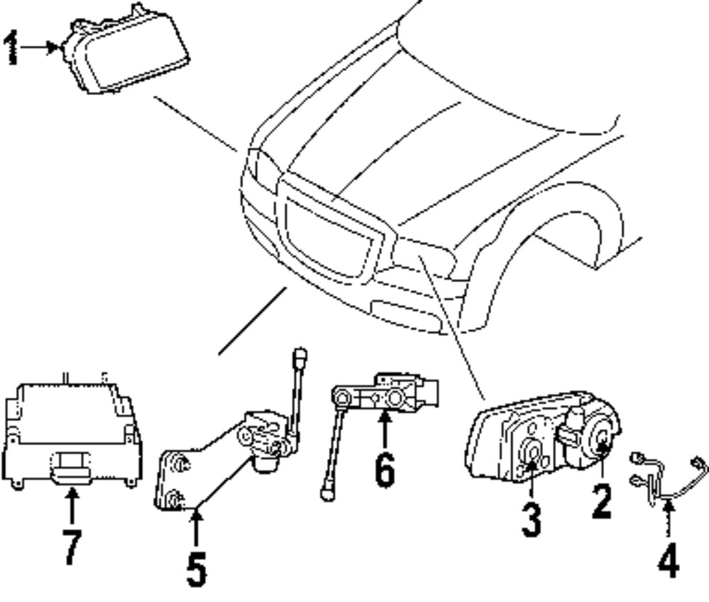 Electrical Parts For Chrysler Wire Harness Genuine Chr 5139054aa