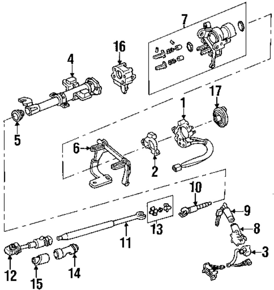 1992 DODGE MONACO Shaft And Internal Components Parts