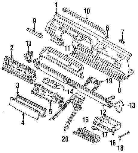 1992 DODGE MONACO Instrument Gauges Parts