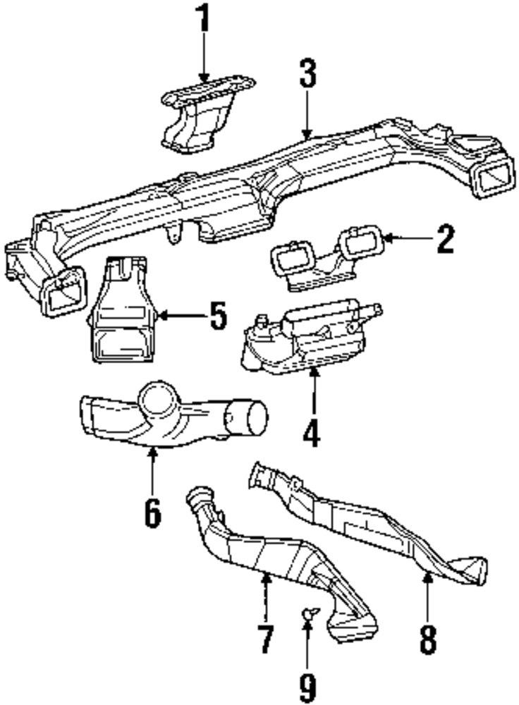 2007 Mercury Milan Ducts Parts