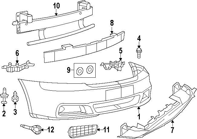 2012 dodge avenger bumper diagram