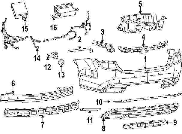 Diagram Chrysler 200 Bumper