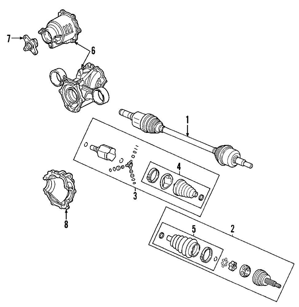 2007 Pontiac Torrent Rear Axle Parts 100259 Cv Joint Diagram Genuine Outer Boot Pon 19149882