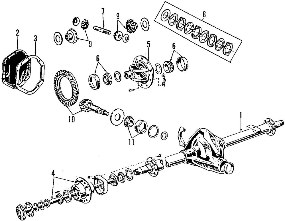 Universals And Rear Axle Parts For Ford