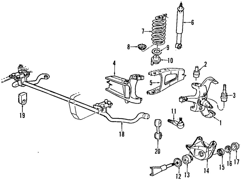1998 ford f 150 front suspension diagram