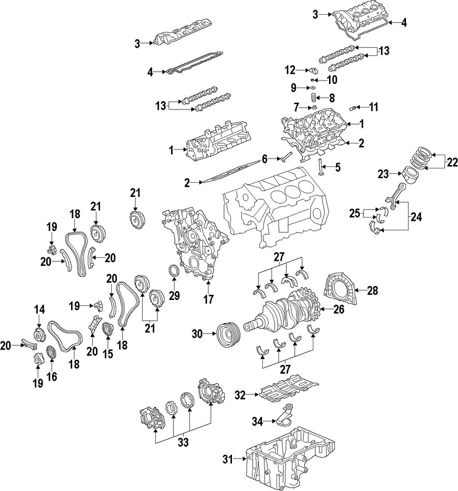 Cadillac V6 Engine Diagram Wiring Library Chevy Parts Genuine Front Cover Cad 12623400