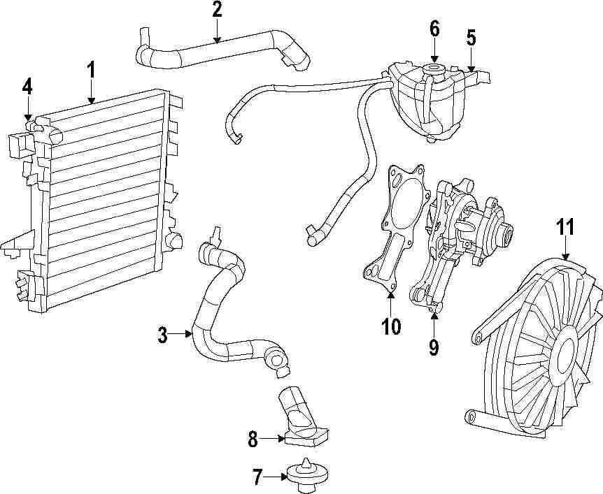 2014 jeep wrangler cooling system parts
