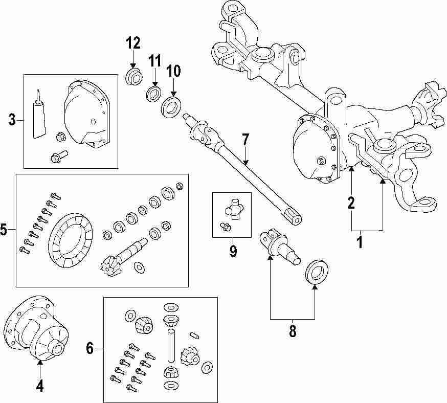 2012 jeep wrangler drive axles parts