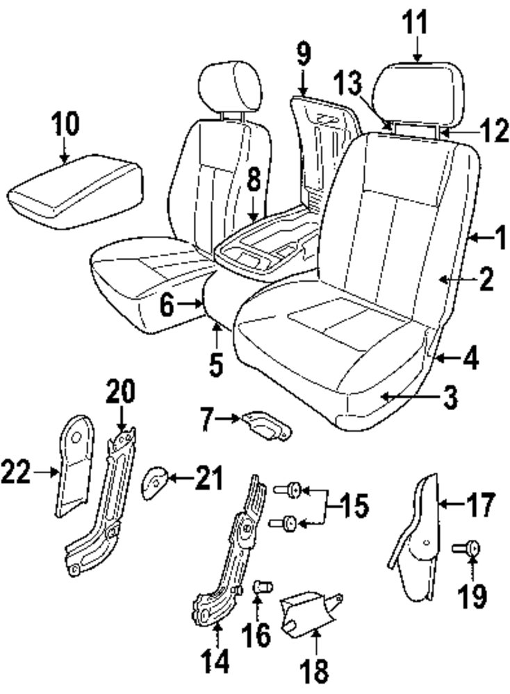 2004 chrysler pacifica front seat components parts. Cars Review. Best American Auto & Cars Review