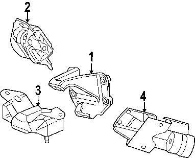 ford escape transmission mount bracket