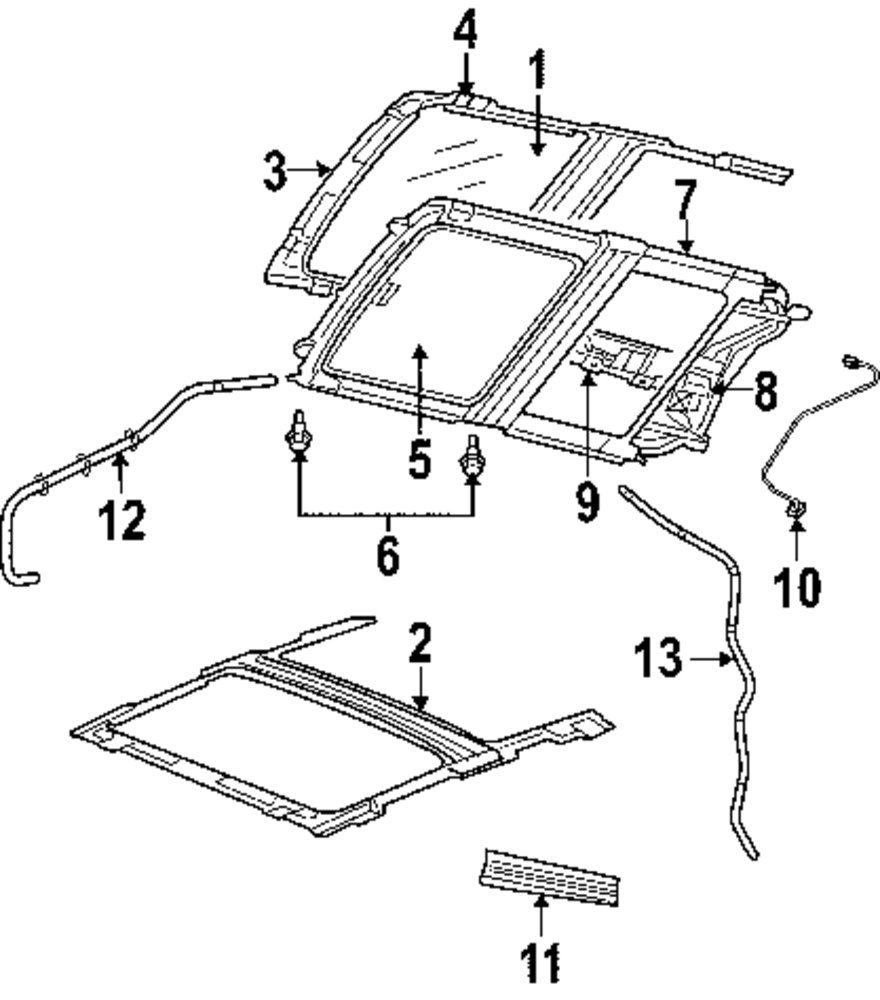 2003 infiniti g35 sunroof parts
