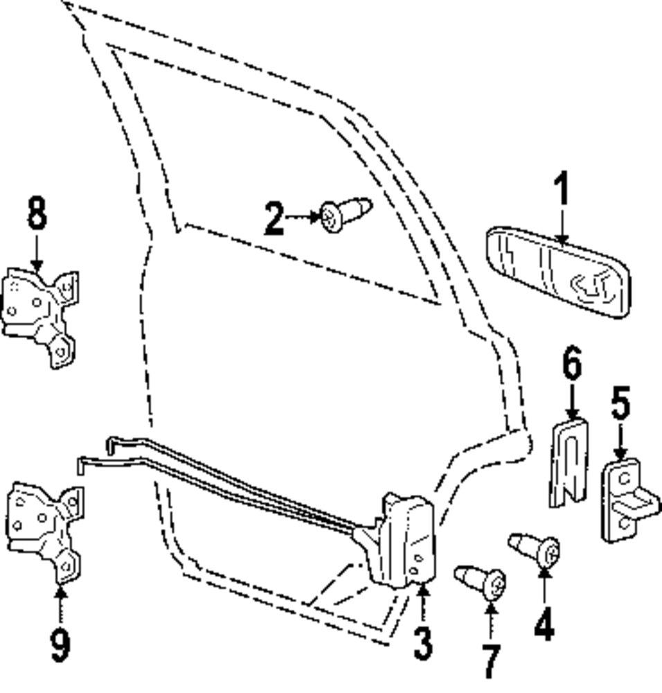 2005 Jeep Grand Cherokee Rear Door Parts Lift Gate Latch Genuine Striker Spacer Jee 55075483