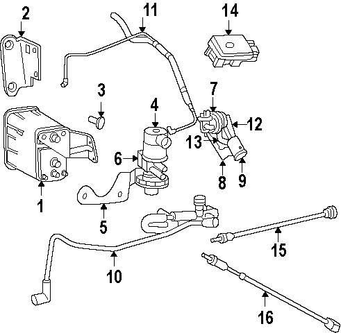 Mopar Direct Parts Dodge Chrysler Jeep Ram Wholesale Retail Emissions Diagram Genuine Purge Valve Bracket Jee 4854127ab