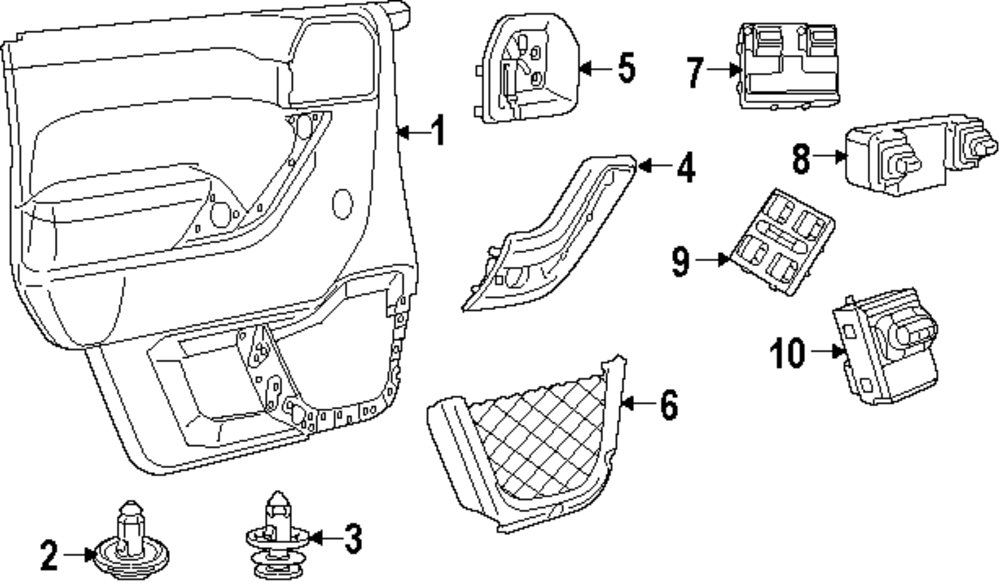 2014 jeep wrangler front door parts