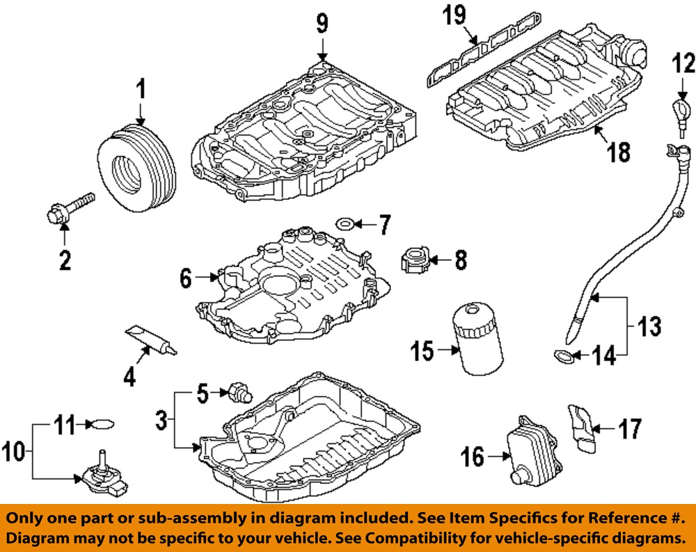 audi oem 10 16 a5 quattro engine parts check valve 06h103156 image is loading audi oem 10 16 a5 quattro engine parts