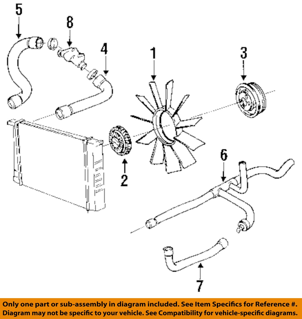 BMW OEM 92-95 325i 2.5L-L6 Engine Cooling Fan-Pulley