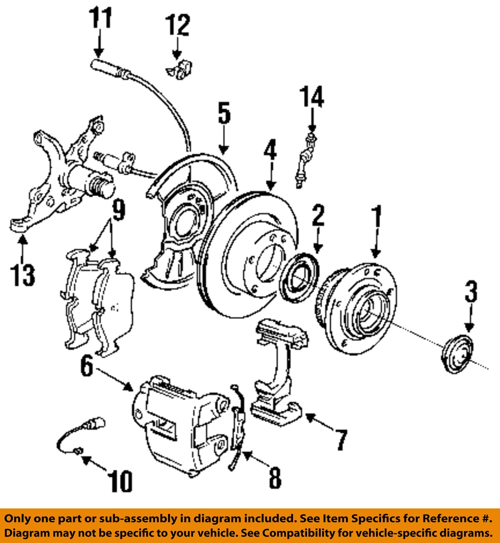 Bmw Oem 96 02 Z3 Brake Front Hub Amp Bearing Grease Cap