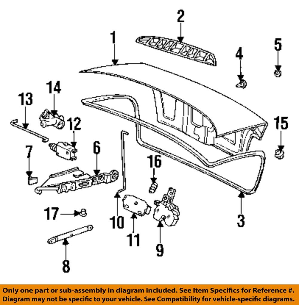 Bmw Z3 Oem Parts: BMW OEM 96-02 Z3 Trunk-Lock Latch Release Actuator