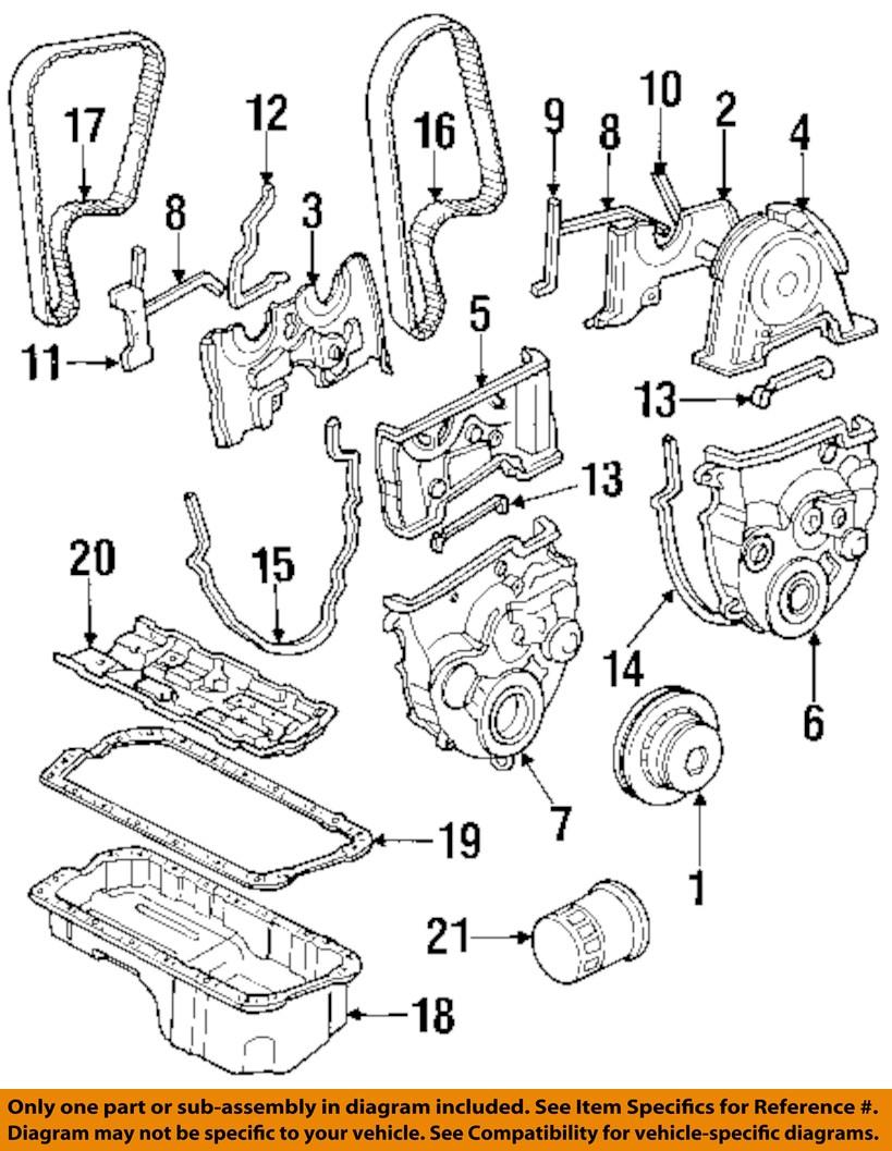 honda oem 90 93 accord engine timing cover 11810pt0010. Black Bedroom Furniture Sets. Home Design Ideas