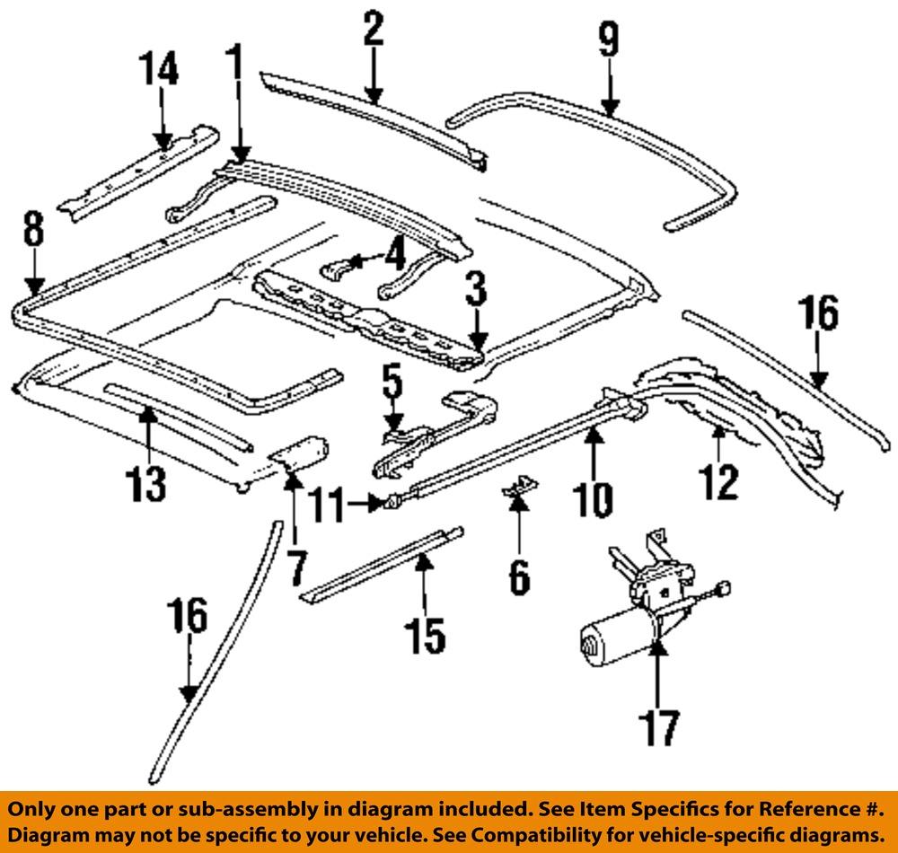 Mercedes 300 Parts Diagram : Mercedes oem te sunroof slide rail right