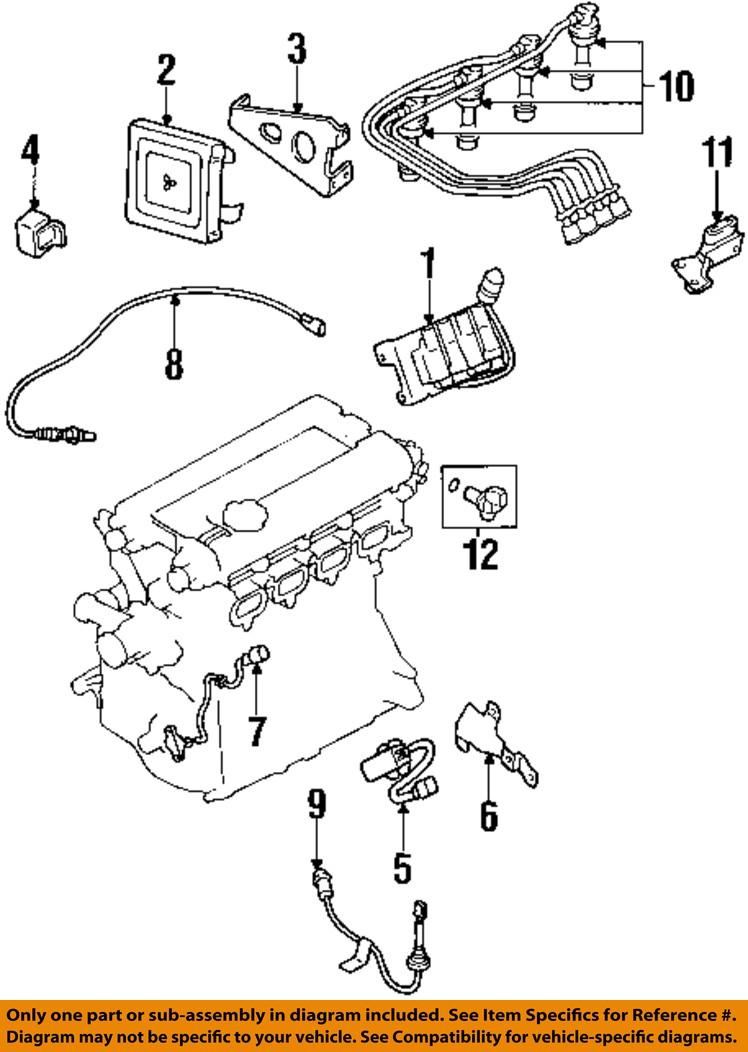 95 Mitsubishi Eclipse Ignition Diagram Wiring Schematic 2019 93 Oem 99 Coil Md184230 Ebay