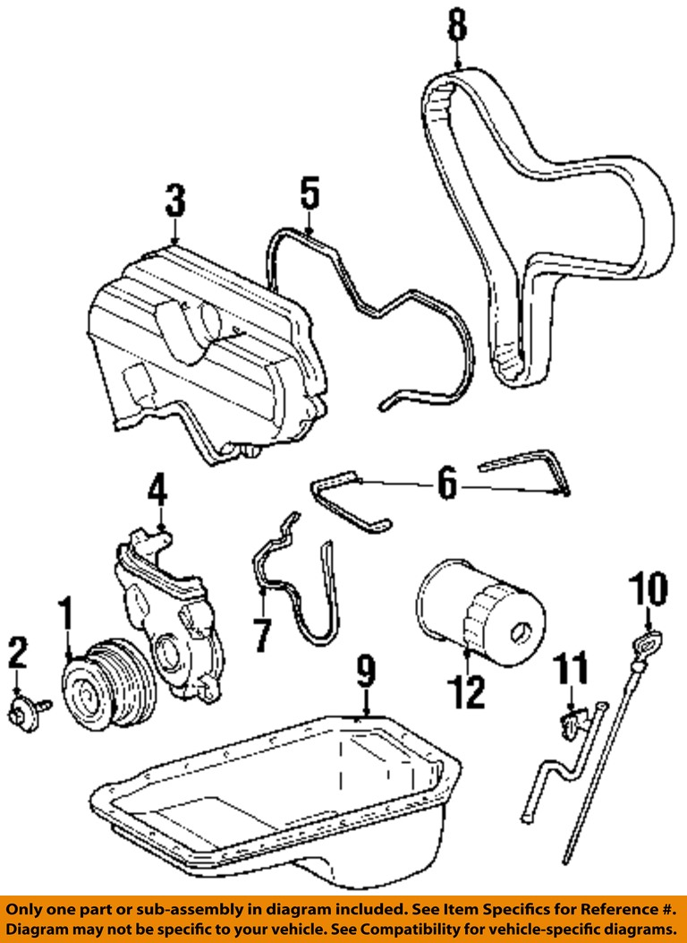 toyota oem 95-98 t100 3.4l-v6 engine-oil fluid dipstick ... ford pinto engine wiring diagram