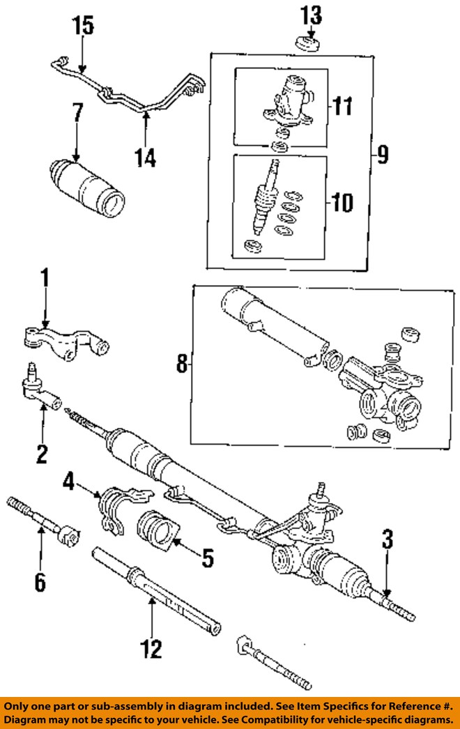 93 t100 transmission diagram toyota oem 93-98 t100 steering gear-gear assembly ... toyota t100 wiring diagram #6