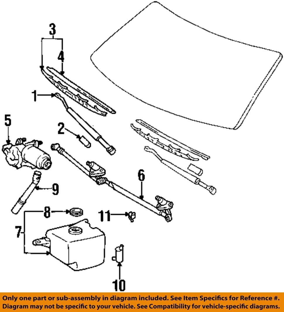 toyota oem 93 98 t100 front windshield wiper motor 8511034020 toyota oem 93 98 t100 front windshield wiper motor 8511034020