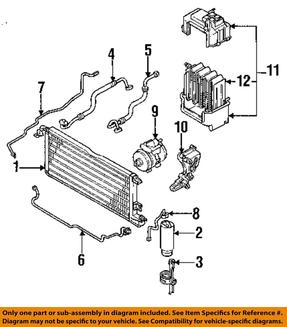 toyota oem 89 91 pickup 3 0l a c condenser compressor line ac image is loading toyota oem 89 91 pickup 3 0l a c