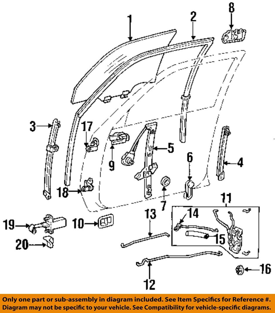 Door Handle Toyota Camry 1994 Parts Diagram Wiring Diagrams 2004 V6 Engine Oem Lock Kit Right 69030aa010 Ebay