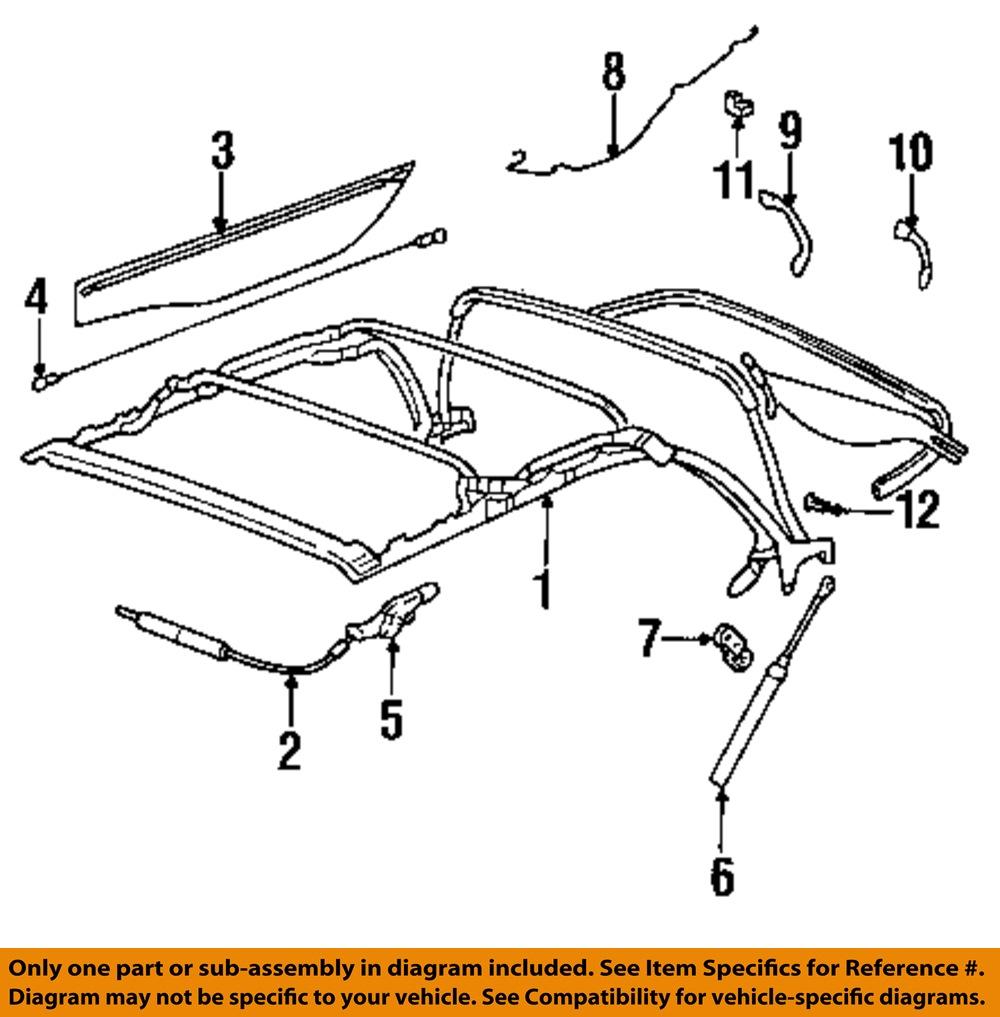 vw volkswagen oem 95 01 cabrio convertible soft top. Black Bedroom Furniture Sets. Home Design Ideas