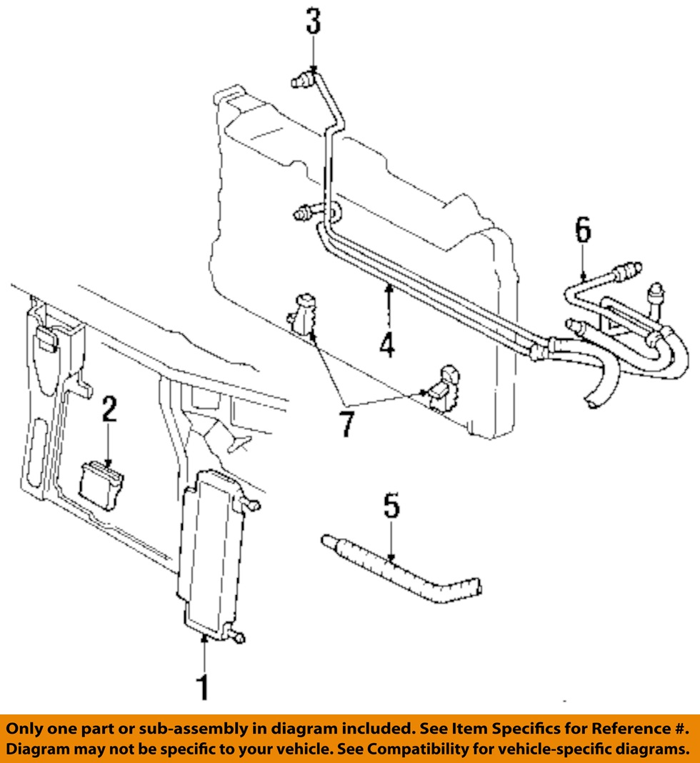 Truck Cooling System Diagram Experts Of Wiring Ford Ranger Engine Cadillac Gm Oem 94 99 Deville 4 6l Transmission Oil Cooler Volvo