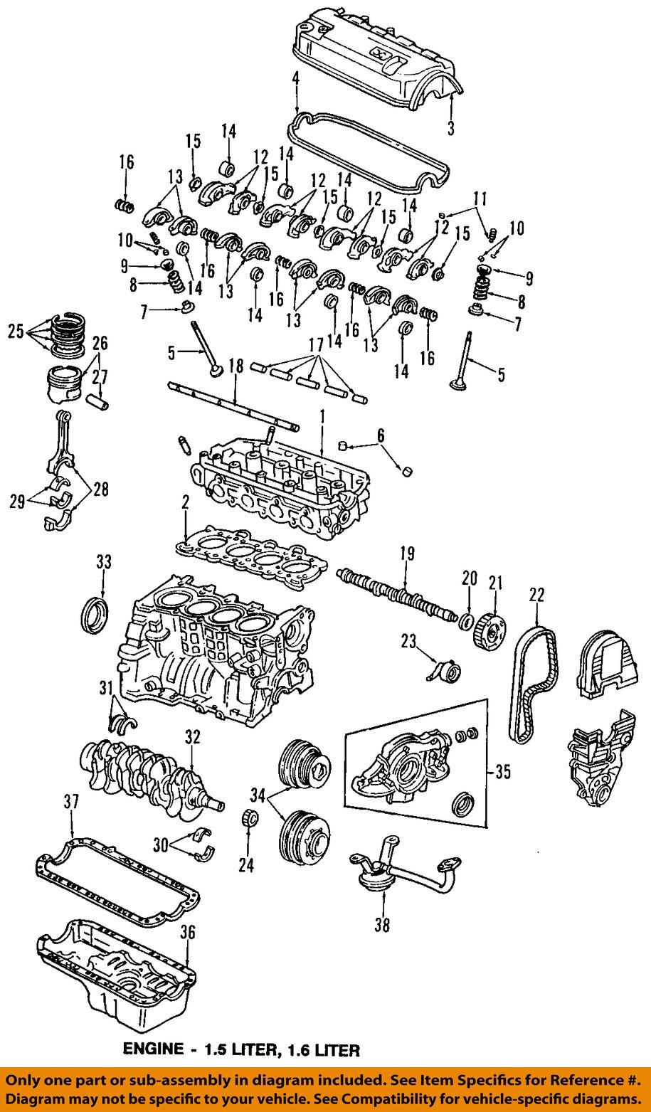95 honda civic ignition wiring diagram 95 honda civic parts diagram honda oem 92-95 civic-valve cover gasket 12341p08000 | ebay