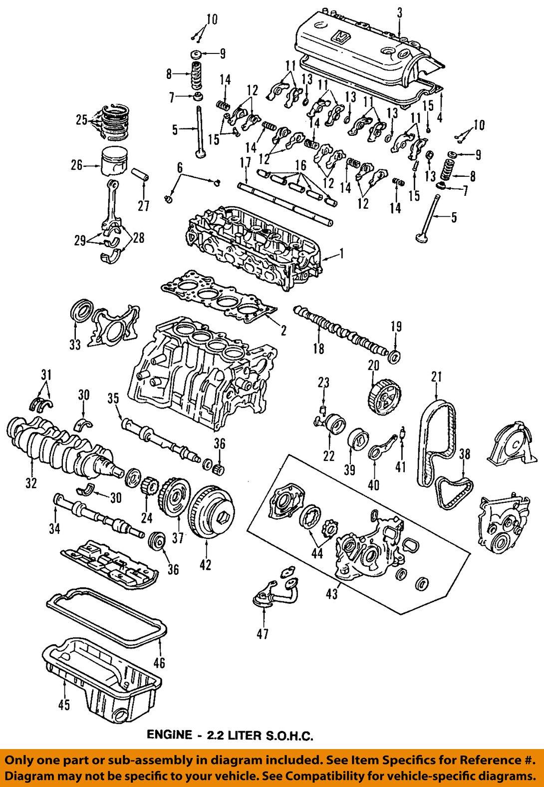 1997 Honda Accord Engine Diagram - Honda Oem Accord Valve Cover Gasket Pt - 1997 Honda Accord Engine Diagram