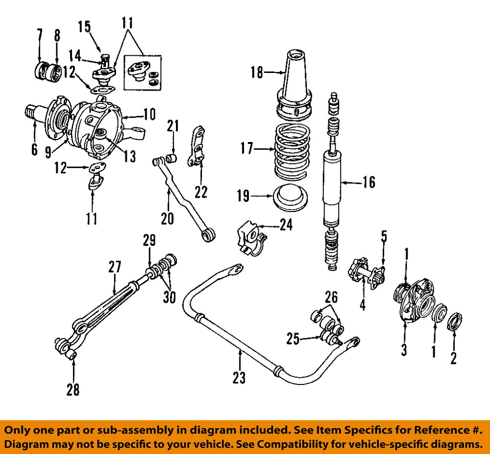 LAND ROVER OEM 87-98 Range Rover-Axle Bearing And Hub