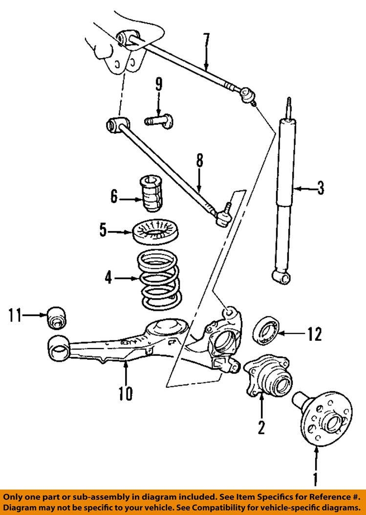 99 Civic Suspension Diagram Not Lossing Wiring 2007 Volkswagen Jetta Front And Coil Spring Parts Hyundai Oem 01 04 Santa Fe Rear Lower Control Arm End