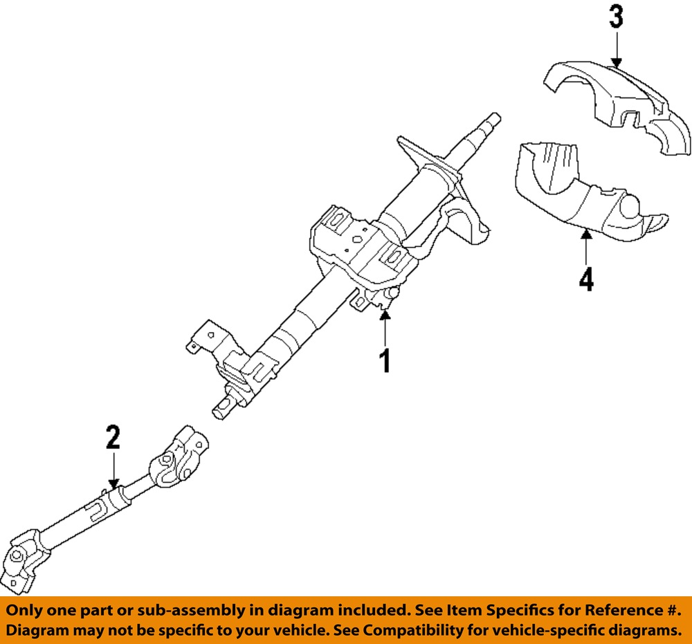 Hyundai Oem 2011 Sonata Steering Column Shaft Coupling