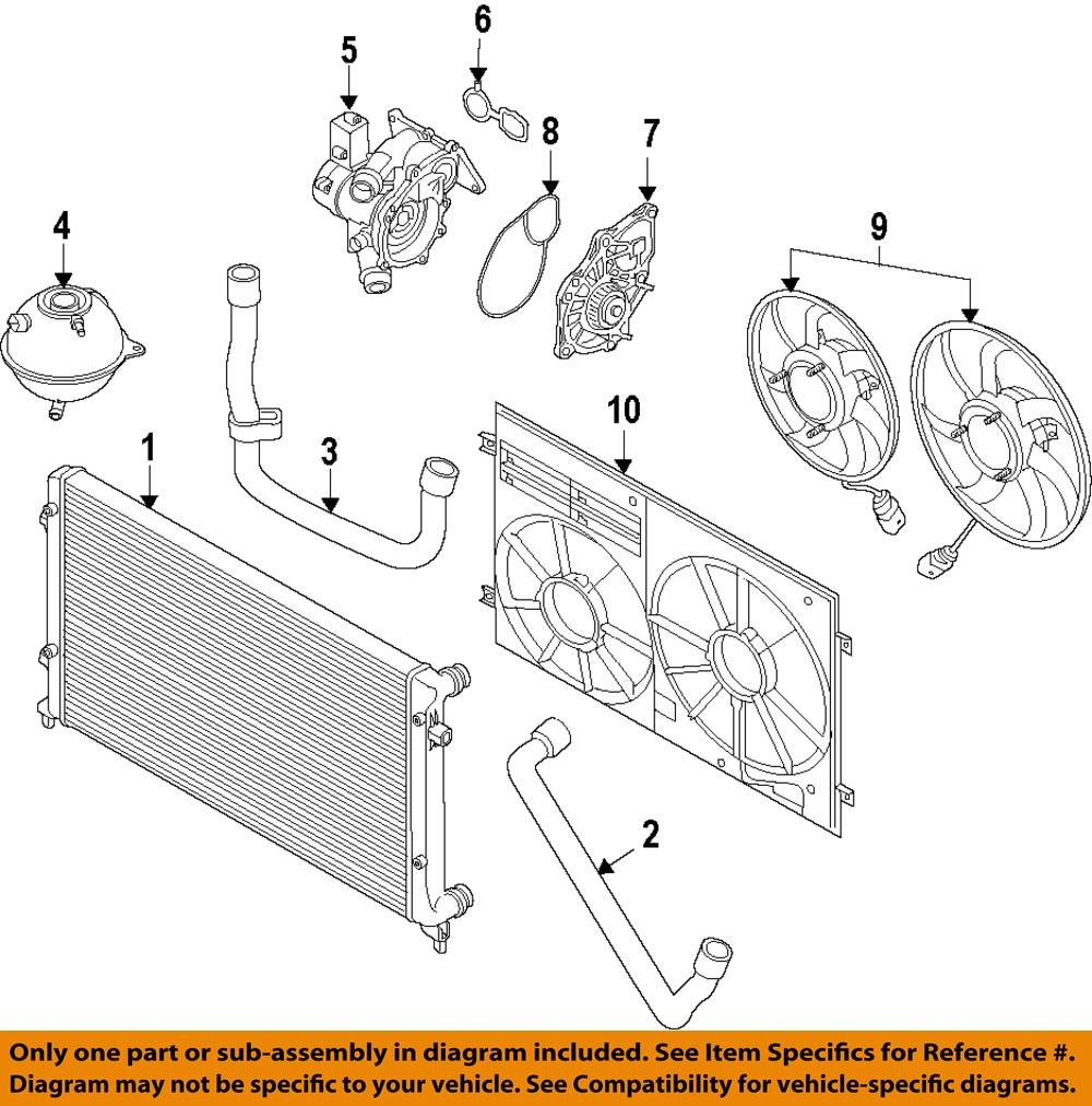 audi oem 12 16 a6 engine coolant thermostat 06l121111h ebay. Black Bedroom Furniture Sets. Home Design Ideas