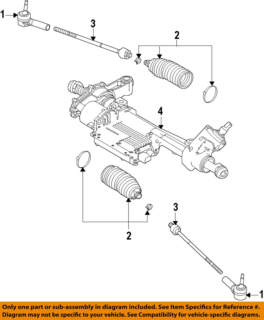 FORD OEM 11-14 Mustang-Rack And Pinion Complete Unit