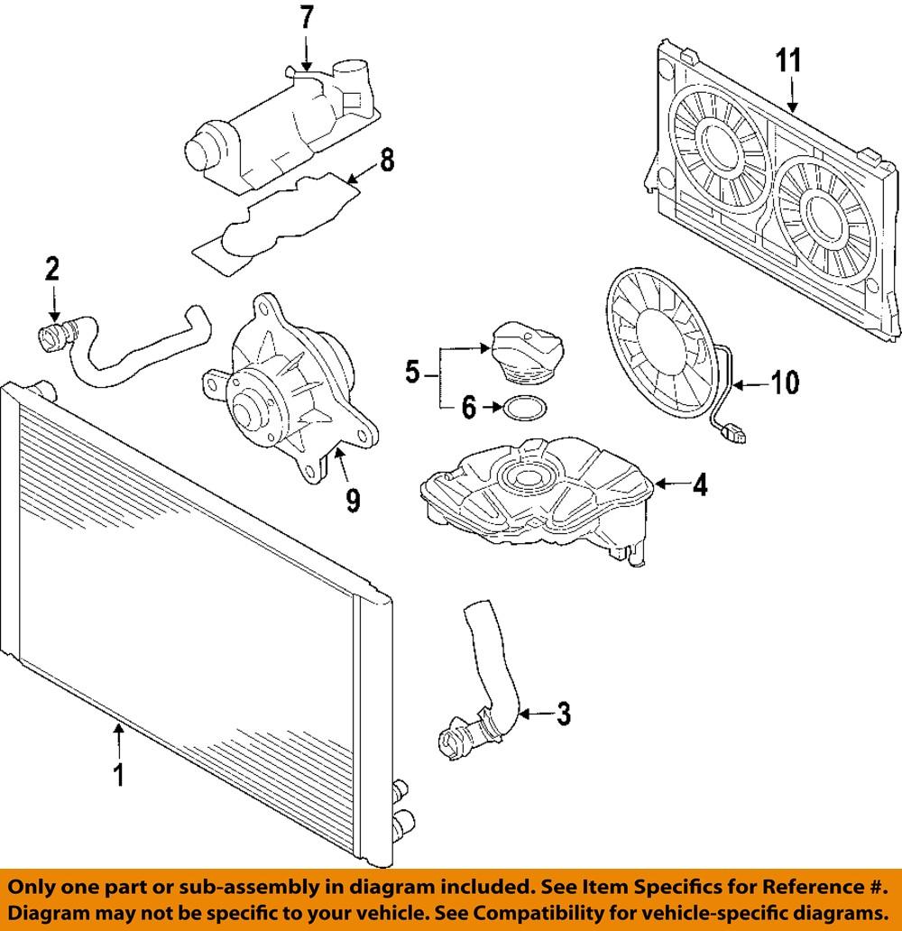 audi oem 06 08 a6 quattro engine cooling fan motor. Black Bedroom Furniture Sets. Home Design Ideas