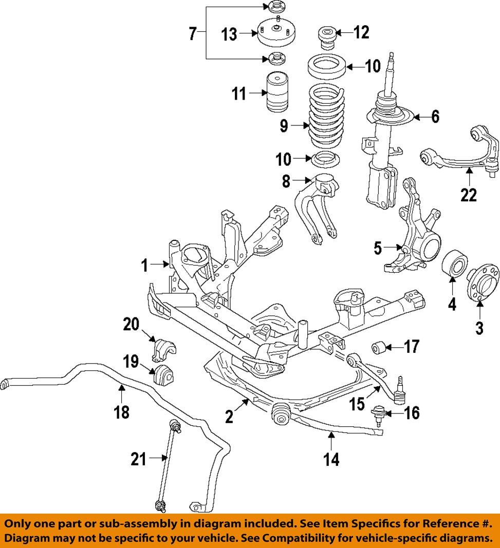 Bmw Front And Part Diagram: BMW OEM 07-13 X5 Front Suspension-Strut Mount 31336788776