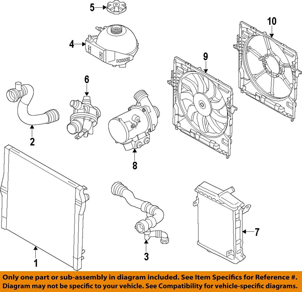 Smart Engine Cooling Diagram : Bmw oem engine coolant thermostat ebay