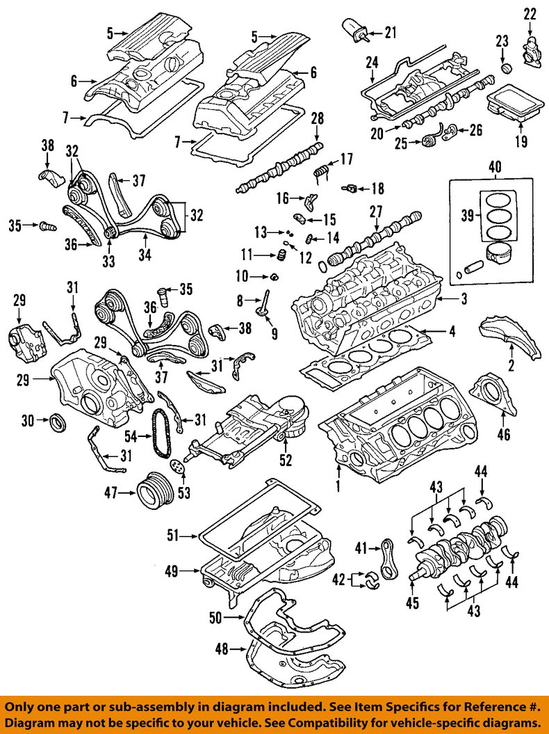 engine crankshaft diagram bmw oem 04-10 x5-engine crankshaft crank main bearing ...