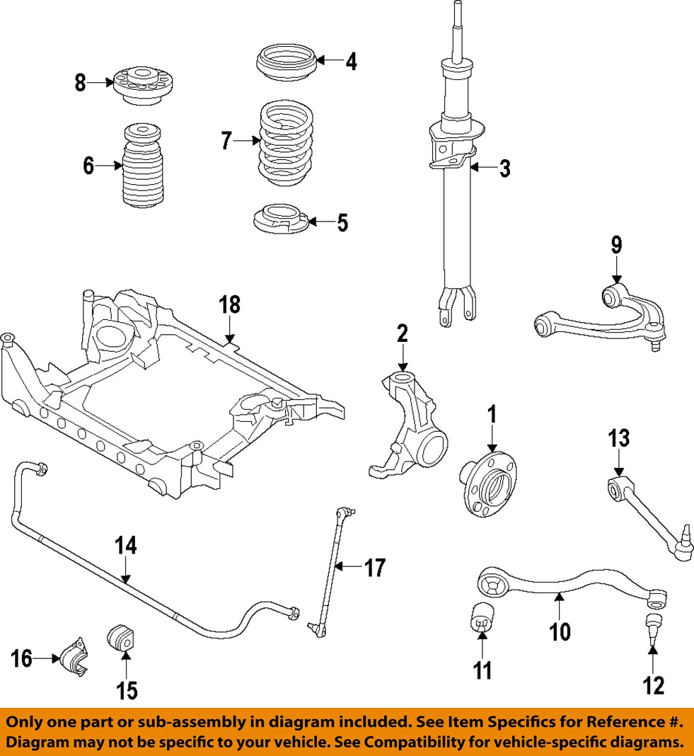 Bmw Front And Part Diagram: BMW OEM 11-14 535i GT XDrive Front Suspension-Coil Spring
