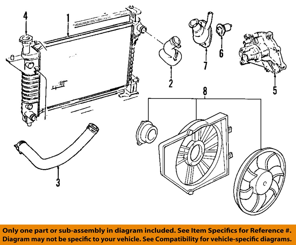 05 mustang v6 engine diagram ford oem 05-10 mustang-engine coolant thermostat housing 5r3z8592ba | ebay #11