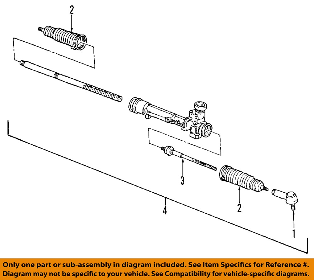 FORD OEM 05-08 Mustang-Rack And Pinion Complete Unit