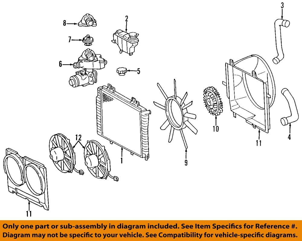 mercedes oem 04 05 c320 engine cooling fan motor 2035001693 2005 Mercedes C320 mercedes benz c320 engine diagram