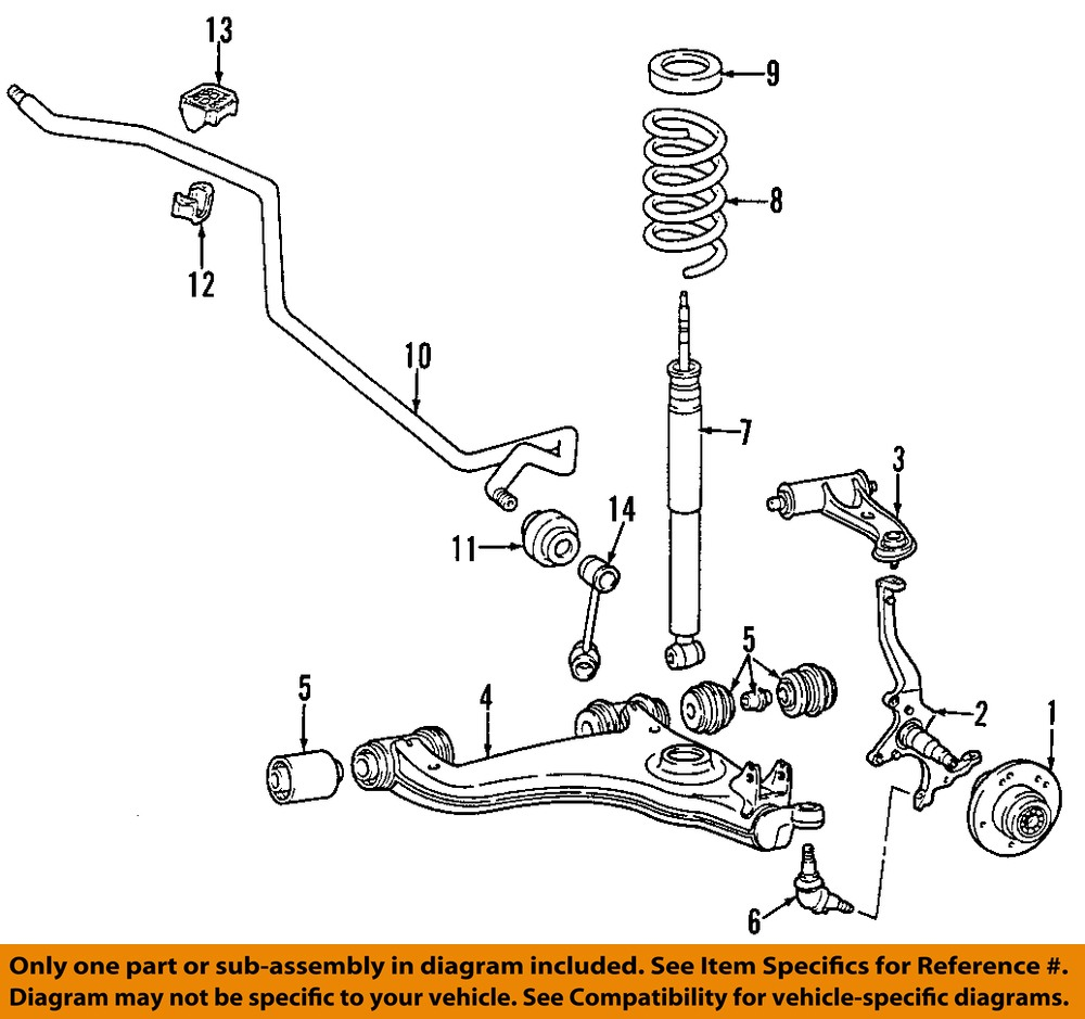 Mercedes mercedes benz oem 96 03 e320 front wheel hub for Mercedes benz suspension parts
